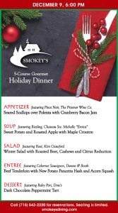 5-Course Gourmet Dinner @ Smokey's